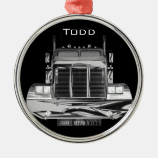 YOUR NAME HERE - Custom Rear-View Mirror Truck Metal Ornament