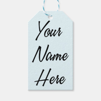 Your Name Here Gift Tag Set