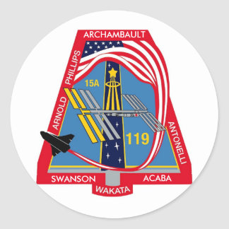 YOUR_NAME_HERE STS-119 Logo Classic Round Sticker