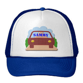 Your name in Car window-hat Cap