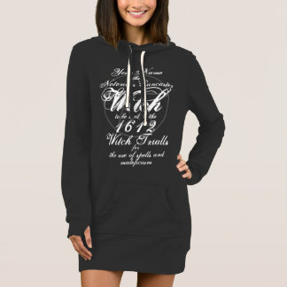 Your Name in Notorious Witch Trials Black Gothic Dress