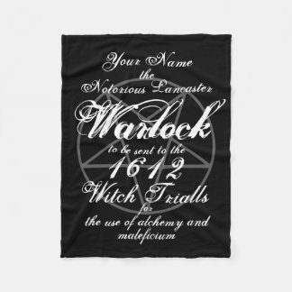 Your Name in Notorious Witch Trials Black Gothic Fleece Blanket