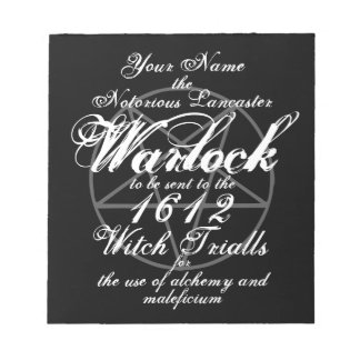 Your Name in Notorious Witch Trials Black Gothic Notepad