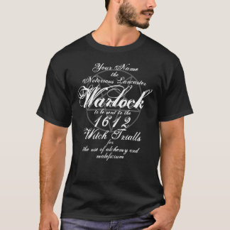 Your Name in Notorious Witch Trials Black Gothic T-Shirt