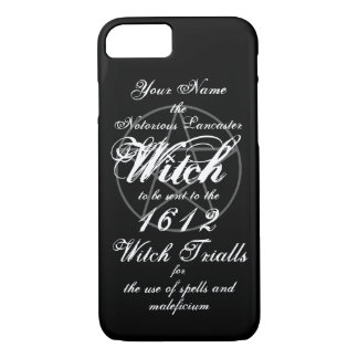 Your Name in Notorious Witch Trials Black iPhone 8/7 Case