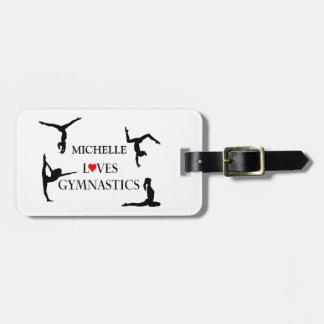 """YOUR NAME"" Loves Gymnastics Bag Tags"