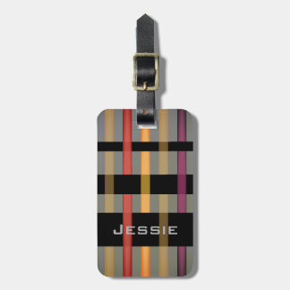 Your Name & Modern Weaving Stripes Luggage Tag