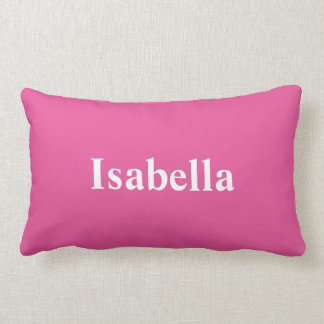 Your Name on a Bright Pink Pillow