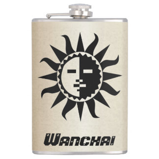 Your Name on Black Sun Gold Flask
