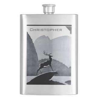 Your Name on this Lake Stag Flask