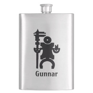 Your Name on this Machine Warrior Hip Flask