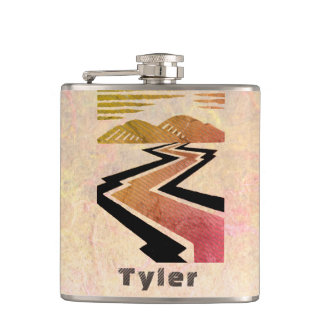 Your Name on this On The Road Flask