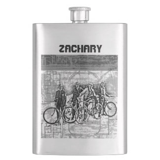 Your Name on this Retro Bikers Flask