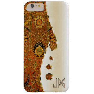 Your name or initials on this gold and Persian rug Barely There iPhone 6 Plus Case