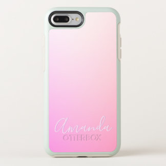 Your Name or Word | Pink Ombre Gradation OtterBox Symmetry iPhone 8 Plus/7 Plus Case