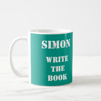 (Your name) Personalised Write the Book teal mug