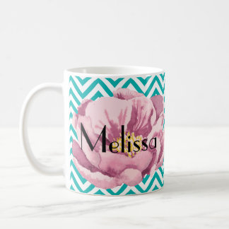 Your Name pink poppy Coffee Mug