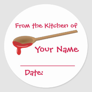 Your Name Preserves Jam Jelly Canning Lid Labels