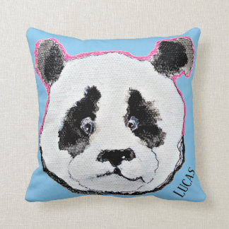 your name tag pillow with panda