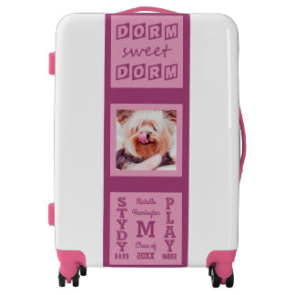 YOUR NAME, TEXT & PHOTO custom student luggage