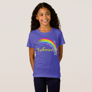 Your name up to 9 letters rainbow violet top