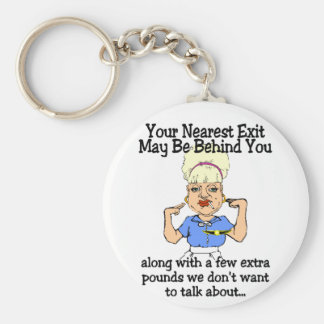 Your Nearest Exit Basic Round Button Key Ring