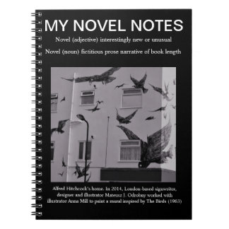 Your Novel/novel notes. Black with The Birds Notebook
