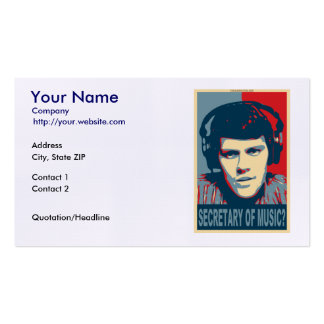 Your Obamicon Me Business Card Templates