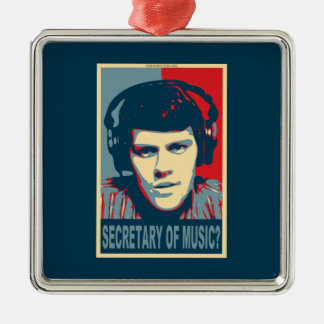 Your Obamicon.Me Square Metal Christmas Ornament