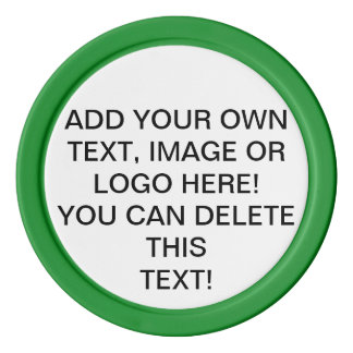 Your Own Image Text Logo. Customizable Poker Chips