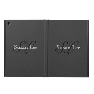 your own name monogrammed iPad air cases
