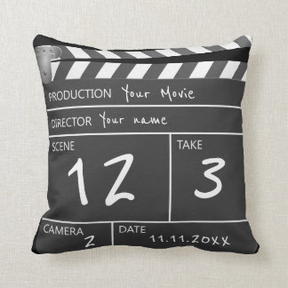 Your Own Personalised Custom Movie Clapperboard Throw Pillow