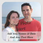 Your Own Photo And Custom Text Stickers