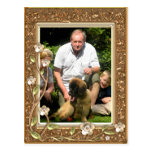 Your own photo in a Golden Flowers Frame! -