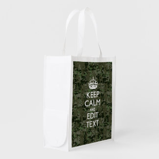 Your Own Text Digital Camo Woodland Keep Calm