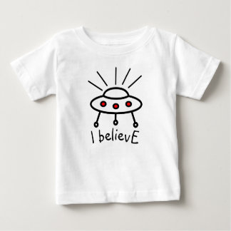 Your own text UFO i believe flying saucer alien Baby T-Shirt