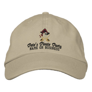 Your Personalized Pirate Embroidery Embroidered Hat