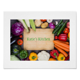 Your Personlized Name Kitchen Art Poster