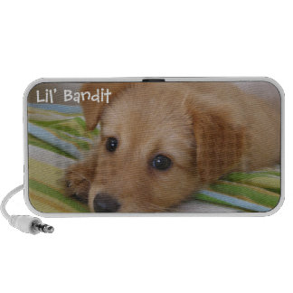 Your pet photo cute puppy dog easy to personalize iPhone speaker