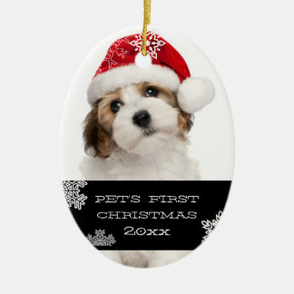 Your Pet s First Christmas Photo Ornament Black