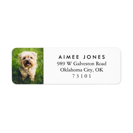 Your Pet's Photo Custom Return Address Label