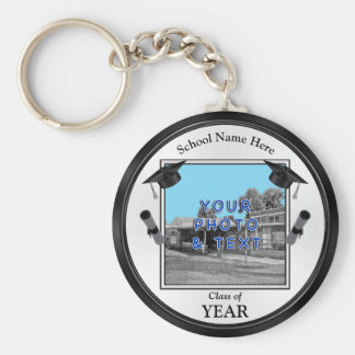 Your Photo and Text Graduation Party Favors Key Ring