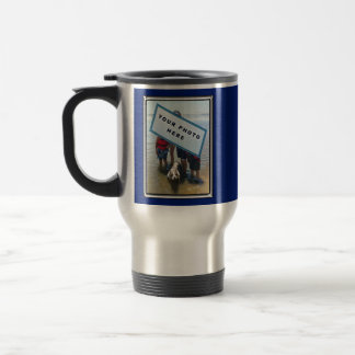 Your Photo and Text Personalized Travel Mugs