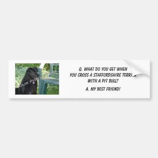 Your Photo! Best Friend Staffordshire Terrier Mix Bumper Stickers