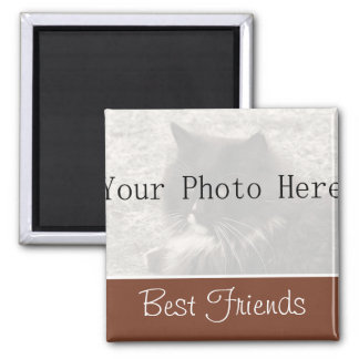 Your Photo- Brown Best Friends Magnet