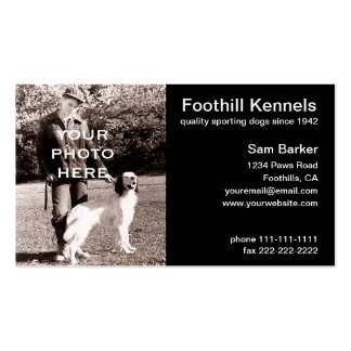 Your Photo Clean Black with White Text Pack Of Standard Business Cards
