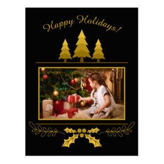 YOUR PHOTO custom Christmas postcard