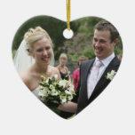 Your Photo  Customised Wedding Keepsake Ceramic Heart Decoration