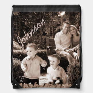 Your Photo Customizable Drawstring Backpack