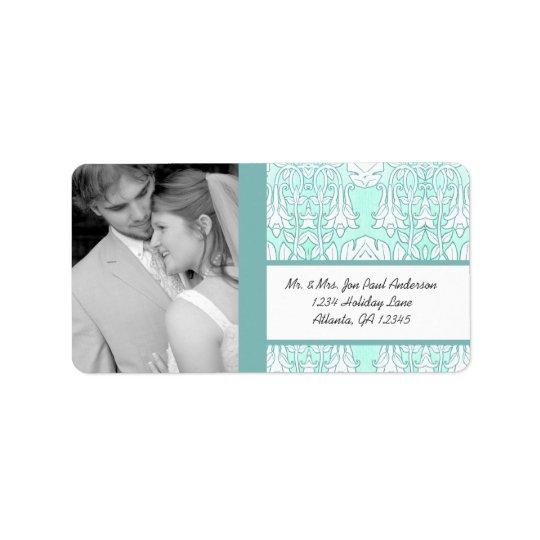 Your Photo Destination Wedding Address Label